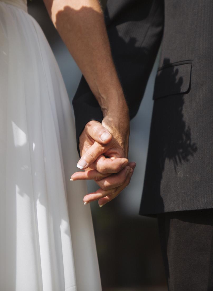 Cabin Wedding - Hands