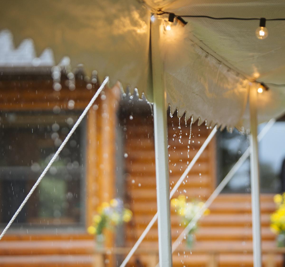 Cabin Wedding - Rain