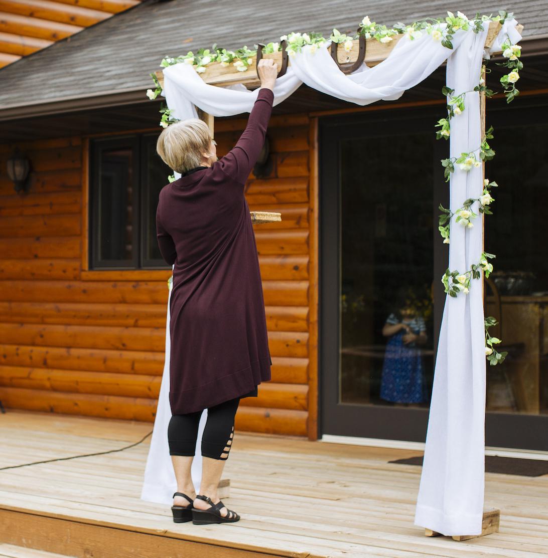 Cabin Wedding - Placing Rings