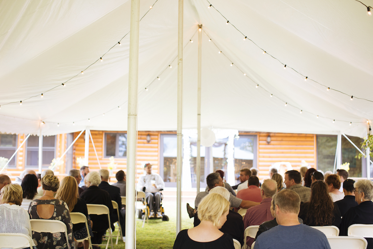 Cabin Wedding - Tent