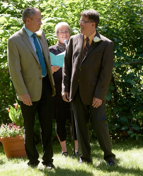 Todd & Steve pronounced as married